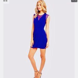 BCBGMAXAZRIA, Brenna Sheer Inset-Ruched Dress BNWT